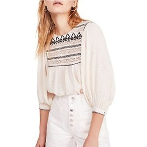 FREE PEOPLE /Ambroidered Top